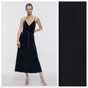 NWT. Zara Black Maxi Knit Dress. Size S, L.